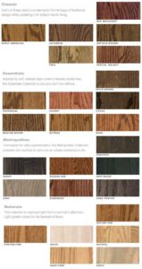Great Indoors wood stain chart