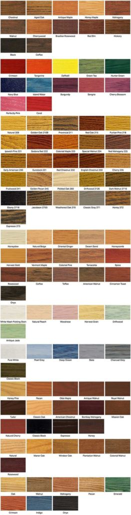 wood floor stain chart 1