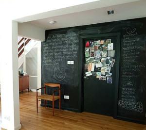 chalkboard paint wall