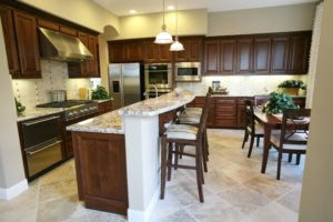 A contemporary kitchen interior in an upscale home
