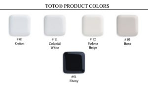 TOTO toilet colors
