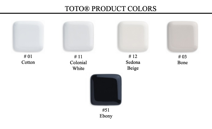 Toto Toilet Color Chart Zef Jam